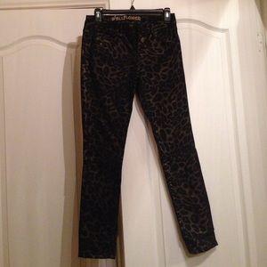 Pants - Cheetah gold and black skinny jeans