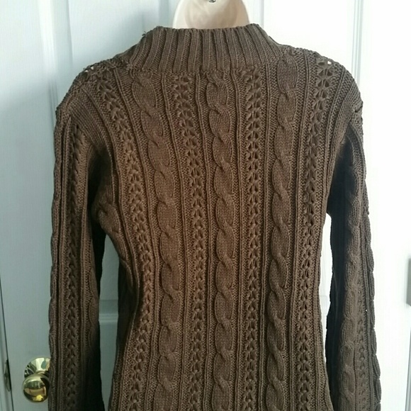 64% off Wet Seal Sweaters - *Brand New* Chocolate Brown Cable Knit ...