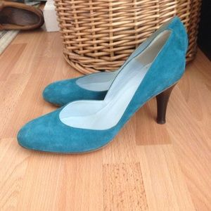 Malo Shoes - Malo classic suede shoes heels 38 8 turquoise