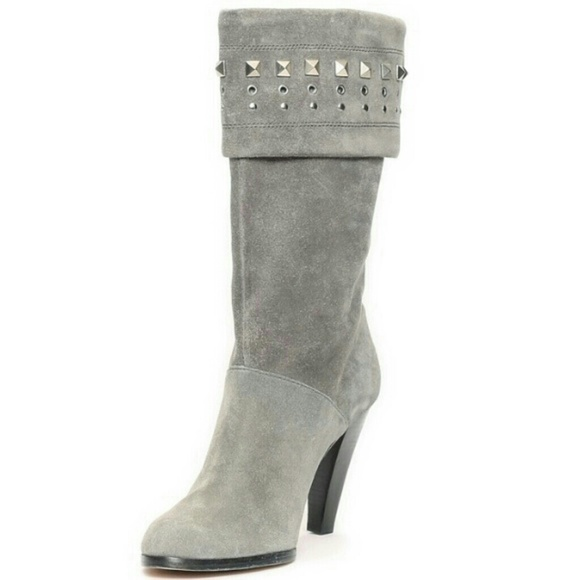 57 michael michael kors shoes gray suede studded