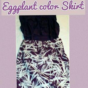 Loft print skirt