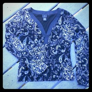 INC Long Sleeve Knit Top