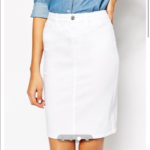 4906ed89d ASOS Skirts | Vero Moda Tall White Pencil Skirt | Poshmark