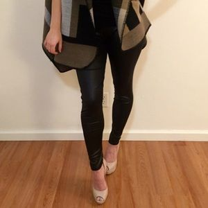Faux Leather/ Wet Look Legging