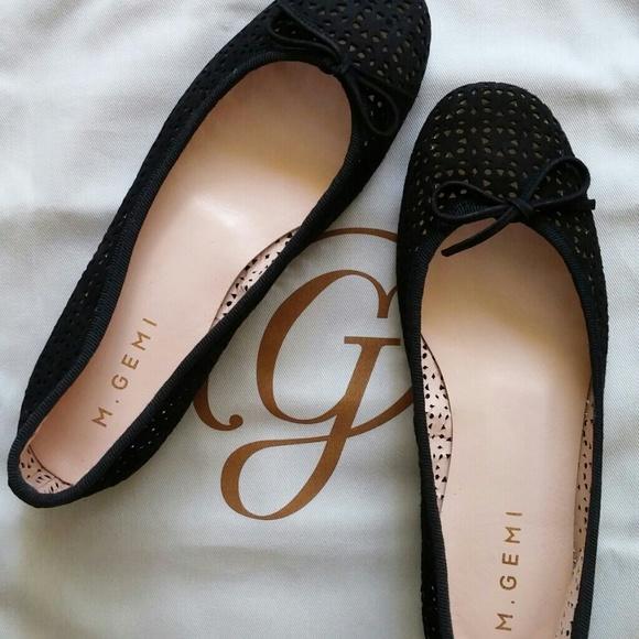 6e728754c392 M. Gemi allegro black suede ballet flats