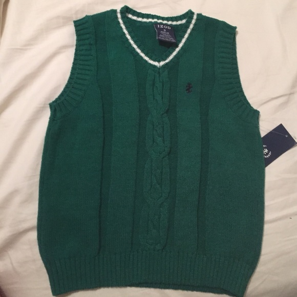65% off IZOD Other - Kelly Green Toddler Izod Sweater Vest NWT ...