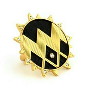 HOUSE OF HARLOW 1960 ZIG ZAG STARBURST RING