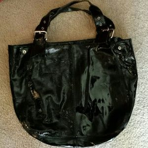 Genuine Leather  (patten leather) Large Handbag