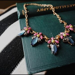 J. Crew Jewelry - J. Crew Neon Jewel Necklace in Vibrant Fuchsia