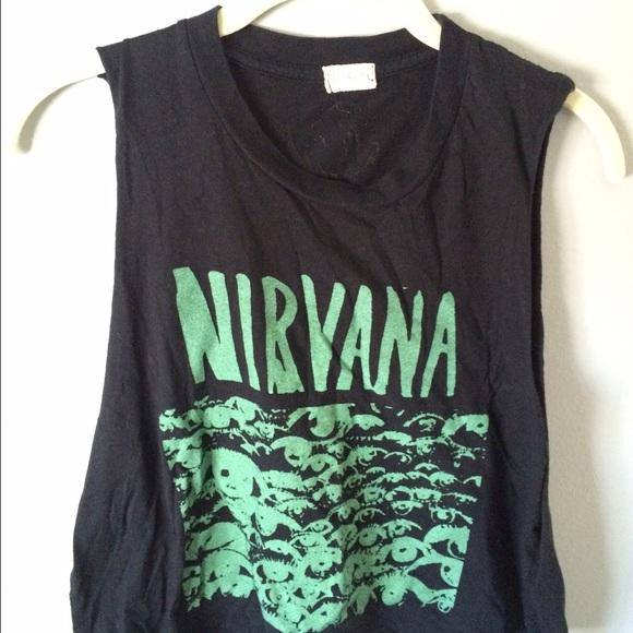 18e5394b Brandy Melville Tops | Nirvana Muscle Tank Top | Poshmark