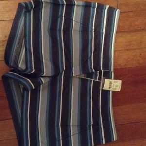 J. Crew 3 inch textured striped shorts-size 8