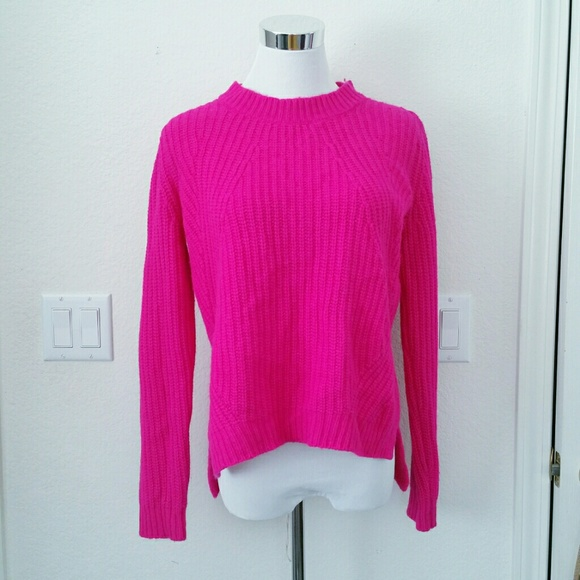 52% off Forever 21 Sweaters - Forever 21 hot pink knitted sweater ...