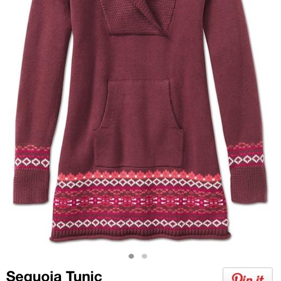 84% off Athleta Sweaters - Athleta Sequoia tunic sweater red and ...