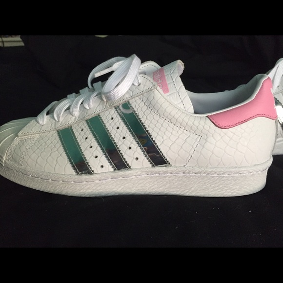 14f45f4c1e41 White customized Adidas