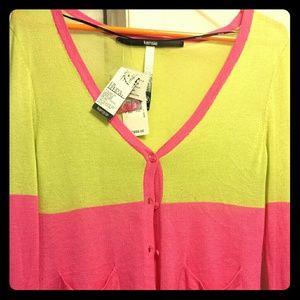 NWT Kensie Color Block Cardigan