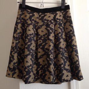 Cute gold floral skirt