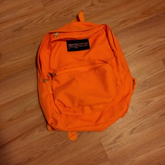 63% off Jansport Handbags - Neon orange Jansport backpack from ...