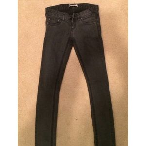 Free People Charcoal Skinny Jeans Size 25