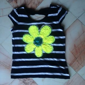 Striped floral top