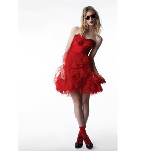 Zac Posen Dresses & Skirts - Zac Posen x Target Two Piece Red Ruffle Dress