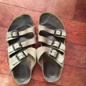 Birkenstock Womens Orlando Slide Sandals Soft Footbed 3 Strap
