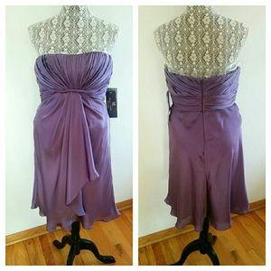 Monique Lhuillier Dresses & Skirts - Monique Lhuillier Drape Bridesmaid Dress Purple