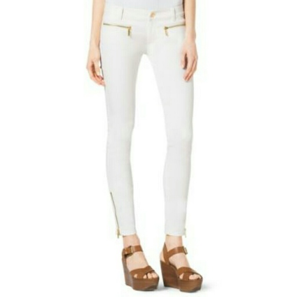 73% off MICHAEL Michael Kors Denim - Michael Kors Ankle Zip Skinny ...