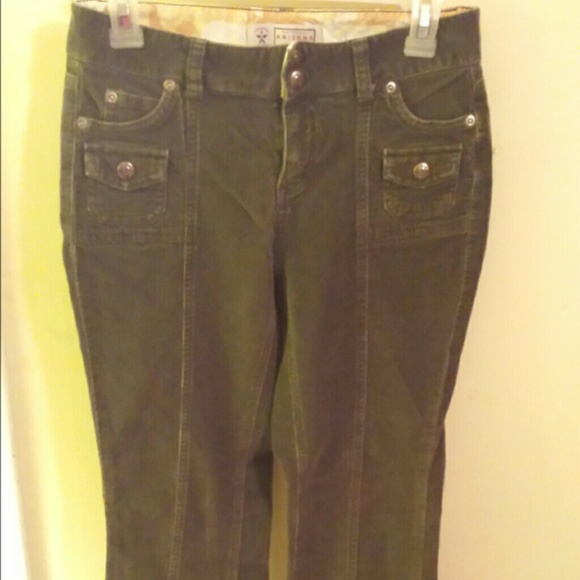 70% off Arizona Jean Company Pants - Arizona Green Flare Corduroy ...