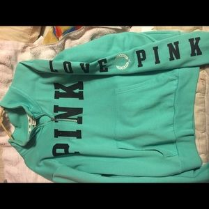 Pink half zip sweater
