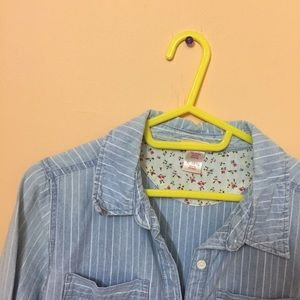 Mossimo Supply Co. Tops - Striped light denim top