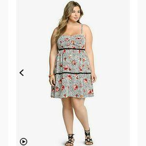 Floral animal print dress