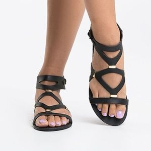 Steve Madden Shoes - Steve Madden Comma Black Sandals 8.5