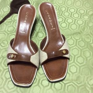 Casadei Shoes - Casedei cloth/leather sandal    SZ8.          $90