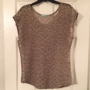 Maurices Tops - Maurices Open-Lace Short Sleeve Pullover Top.