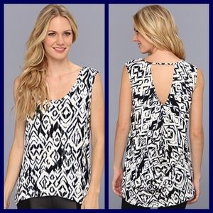 "Tart Tops - Tart ""Katherine"" Diamond Ikat Top."