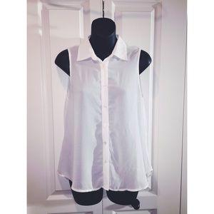 White sheer dress top