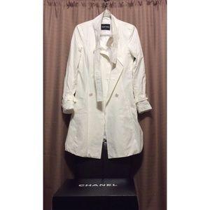 Armani Collezioni Jackets & Blazers - Giorgio Armani White Trench Coat