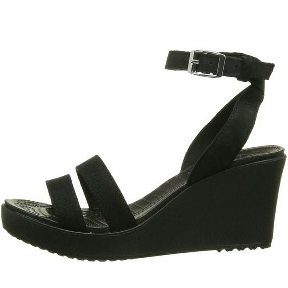 30 crocs shoes new croc black wedge sandal from