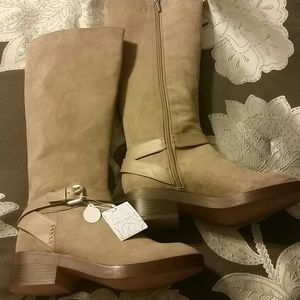Zara Tan Tall Boots