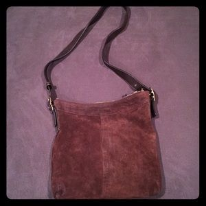 Coach Handbags - Coach Brown Suede Bucket Shoulder Bag