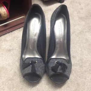 Christian Siriano Shoes - Christian Siriano Black and grey heels
