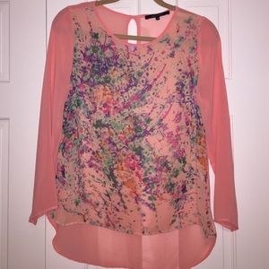 19 Cooper Tops - Coral & Floral 19 Cooper Blouse