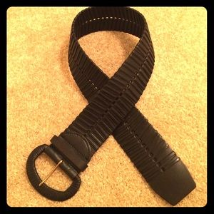 Accessories - Black Chunky Belt