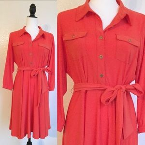 Dresses & Skirts - 🎉😊Stylish Belted Coral Dress.