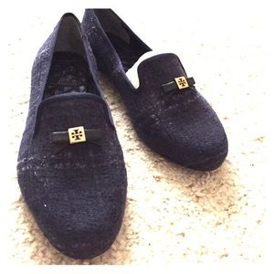 Tory Burch Shoes - Chandra Loafer in Navy Tweed