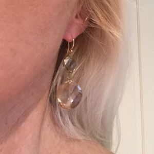 Jewelry - Lovely New two-toned crystal  earrings
