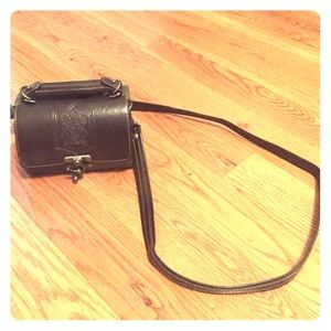 Vintage Leather barrel crossbody