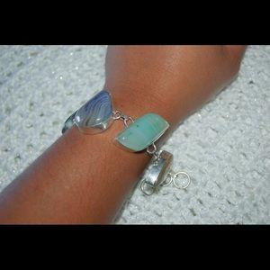 handmade & handcrafted gemstone jewelry Jewelry - Pretty Colorful Botswana Statement Bracelet