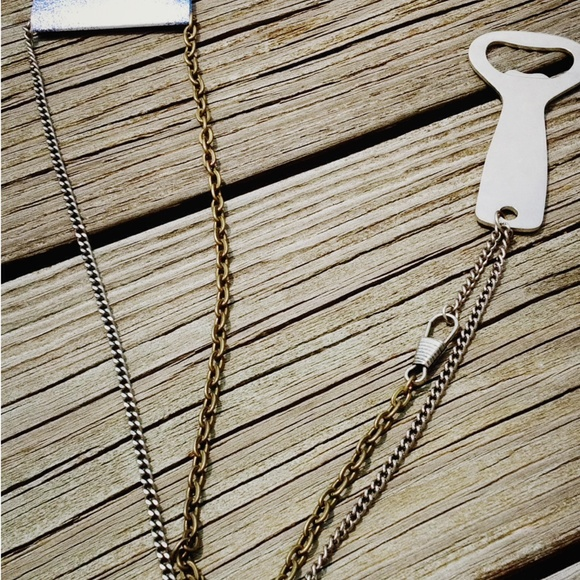 11 off urban outfitters jewelry urban outfitters bottle opener long chain necklace from. Black Bedroom Furniture Sets. Home Design Ideas