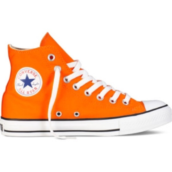 462e9af95aa9ca Authentic Orange Converse Sneakers